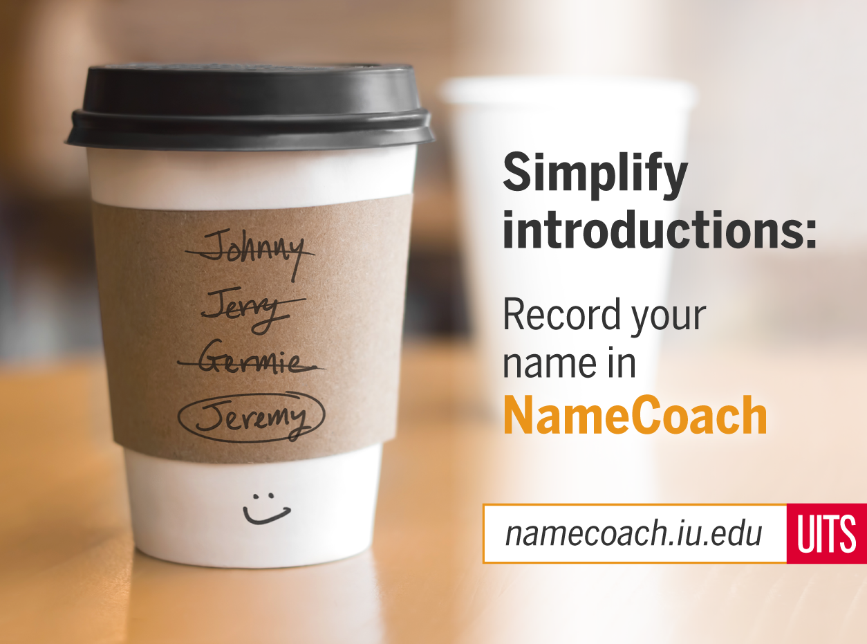 Simplify introductions, image of a coffee with name of the customer mislabeled